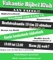 Vakantie Bijbel Klub 19 t/m 22 oktober