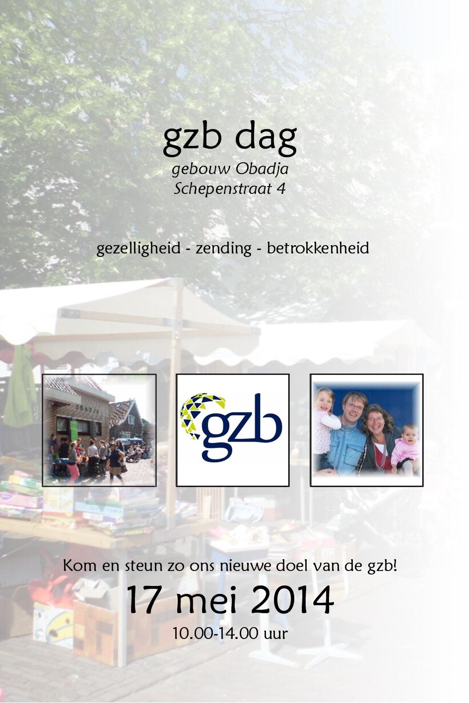 Flyer GZBdag 2014 voorkant