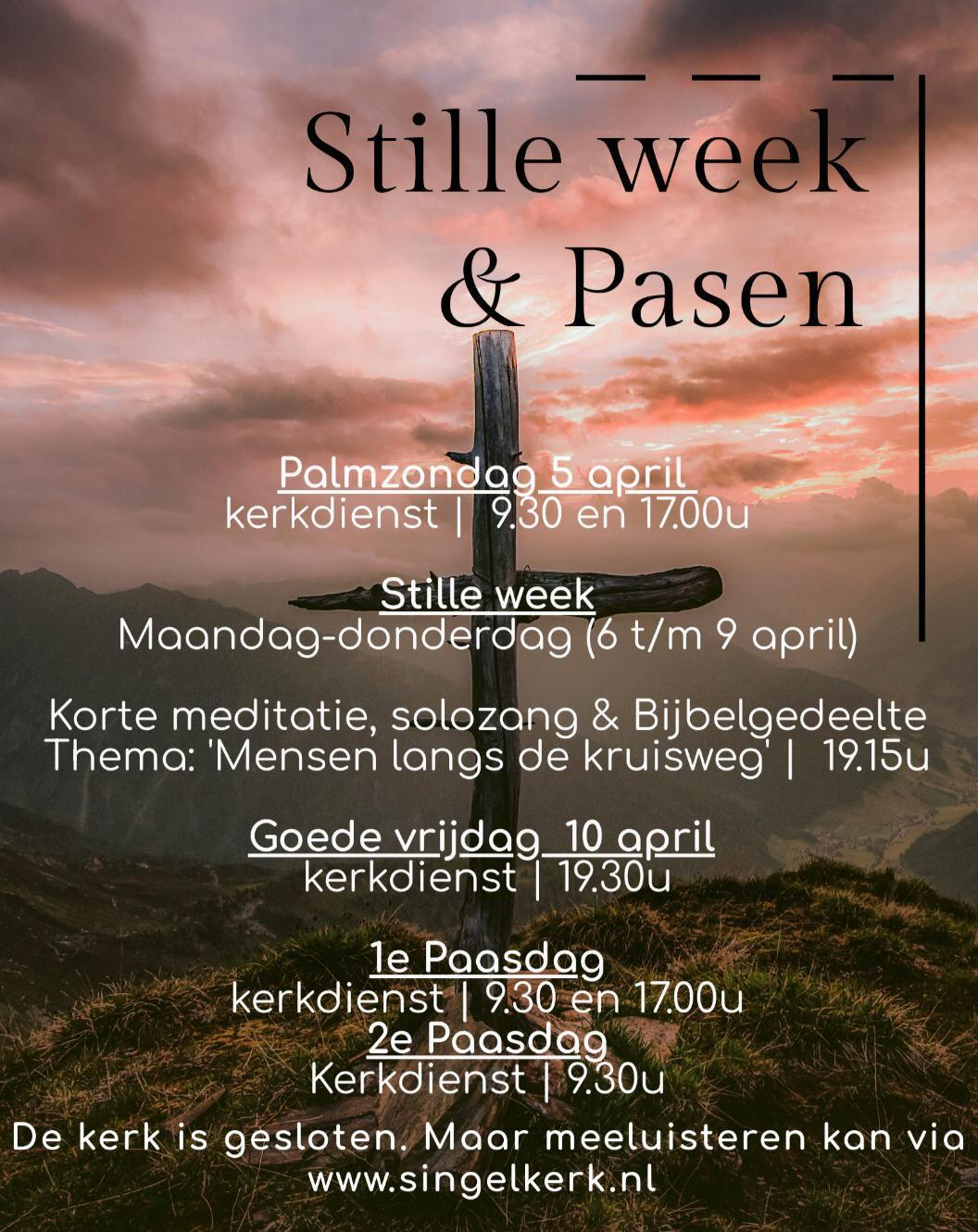 Flyer stille week