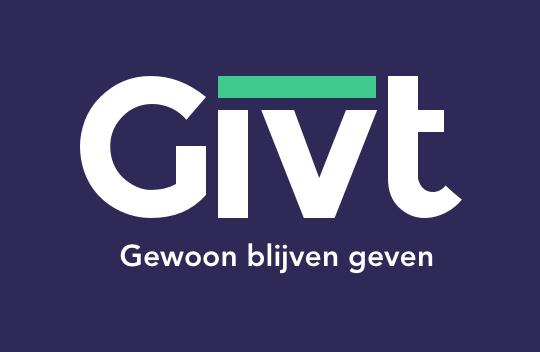 Givt Logo tagline NL bluebackground