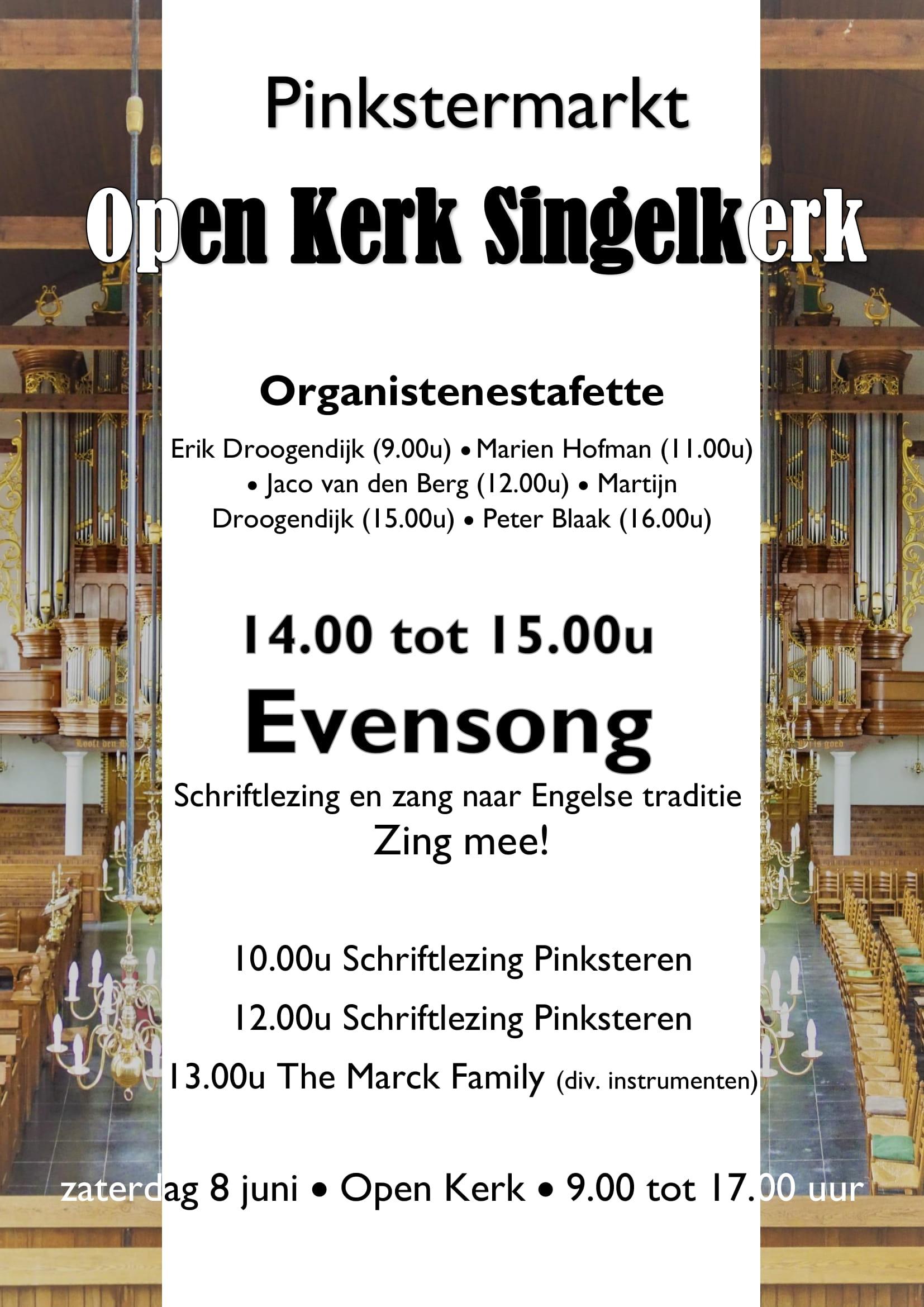Open Kerk v Pinkstermarkt poster 1
